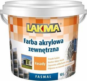 Akrylowa farba Farba fasadowa Lakma Fasmal - biała 10L 011-04-002-0004