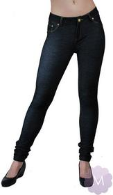 Redial Elastyczne spodnie leginsy czarne rurki z wyższym stanem