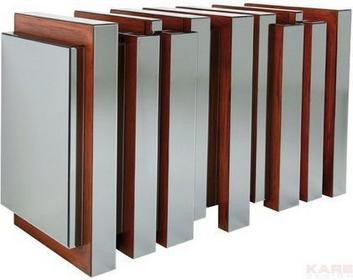 KARE design Metropolis Komoda ze szkła i drewna, Railing 77105
