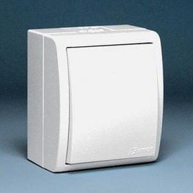 Kontakt Simon - Aquarius - Łącznik Pojedynczy natynkowy IP44 biały AQW1/11