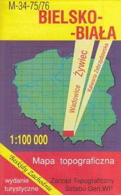 Bielsko-Biała Żywiec Wadowice mapa 1:100 000 WZKart