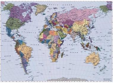 Komar FOTOTapeta WORLD MAP 4-050 SCENICS