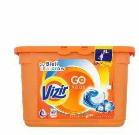 Vizir Go Pods Touch of Lenor Kapsułki do prania do białego i koloru 17szt.