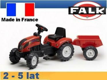 Falk Traktor Ranch z przyczepą czerwony FA2051AC