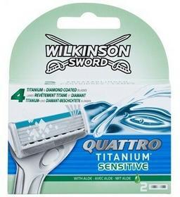 Wilkinson Sword Quattro Titanium Sensitive zapasowe ostrza Wit Aloe 2 szt