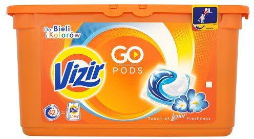 Vizir Go Pods Touch of Lenor Freshness Kapsułki do prania do bi