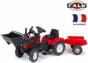 Falk Traktor Ranch z zestawem do piasku i przyczepą 2051C