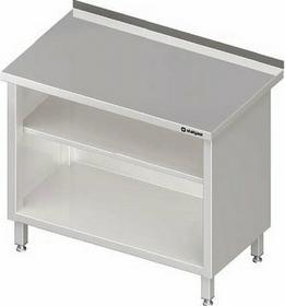 Stalgast Stół przyścienny zabudowany z dwoma półkami 600x600x850 mm 980136060