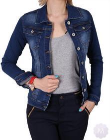 Dromedar Damska katana/kurtka jeansowa granatowa lekko wytarta (ZM1312)