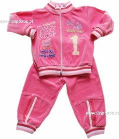 Dresy dziecięce bluza i spodnie Tadek różowe 98