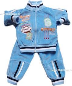 Dresy dziecięce bluza i spodnie Tadek jasne niebieskie 74
