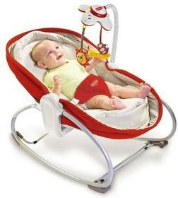 Tiny Love Wielofunkcyjny leżaczek/bujaczek/łóżeczko 3w1 czerwono-kremowy