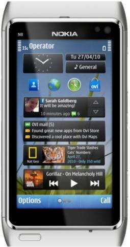 Nokia N8 Srebrny