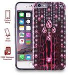 JUST CAVALLI Obudowa PURO Leo Crystal Cover Apple iPhone 6 / 6S Różowy / Różowy