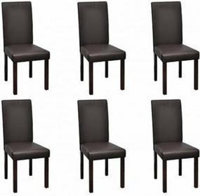 6 krzeseł jadalnianych, w Brązie