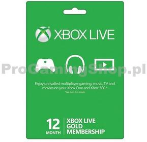 Microsoft Xbox Live Gold 12 Miesięczny Pre-Paid