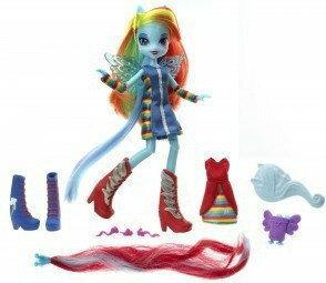 Hasbro My Little Pony Equestria Girls - Lalka z akcesoriami Rainbow Dash A4121