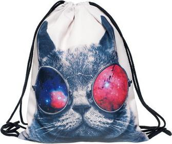 Worek plecak GALAXY SUNGLASSES CAT