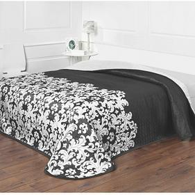 Forbyt Narzuta na łóżko Versaille czarno-biała, 140 x 220 cm