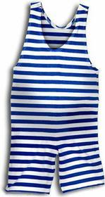Retro strój kąpielowy - męski - rozmiar XXL
