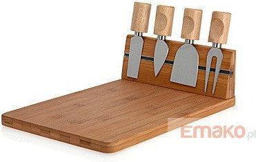 Excellent Houseware EH Deski bambusowe Deska do serów i przekąsek + 4 noże 3.4 - 4C6