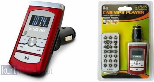 SAVIO Transmiter FM TR-08, 12V, ekran LED, Pilot