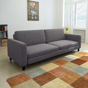 vidaXL Kanapa sofa 3 osobowa ciemnoszara