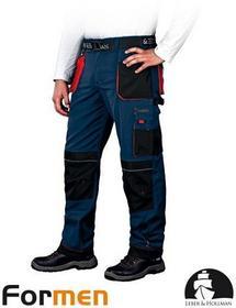 Leber & Hollman GRANATOWE spodnie ROBOCZE DO PASA LH-FMN-T (GBC) promocja!