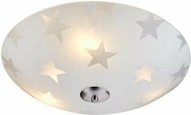 Markslojd Okrągły PLAFON szklany Lampa sufitowa OPRAWA nowoczesna STAR LED 105613 IP20 gwiazdy stal Biały