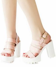 Różowe sandały Chica różowy