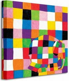 Elmer, Squares - Obraz na płótnie