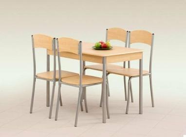 Halmar Stół z krzesłami LONGIN + 4 krzesła (dąb jasny)