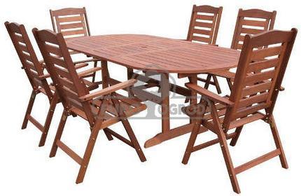 Hecht Meble Ogrodowe Prague Set Stół + 6 Krzeseł 8594061745083