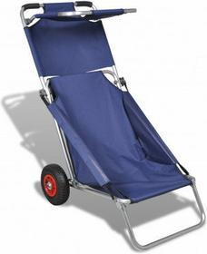 Wózek, fotel na kółkach ze stolikiem, 3w1, niebieski.