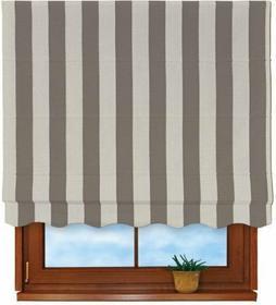 Dekoria Roleta rzymska Florencja Cotton Panama Stripes Grey&Silver (szare pasy)