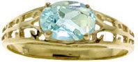 Galaxy Gold Products 2393 Pierścionek z akwamarynem