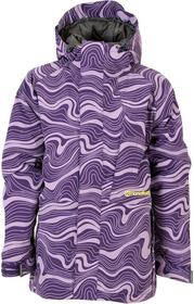 Horsefeathers kurtka dziecięca Gemini kids purple grid