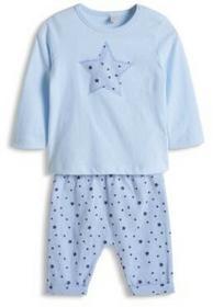 Esprit Boys Newborn Bluzka z długim ręakwem + spodnie Light Blue 075EENN002_440