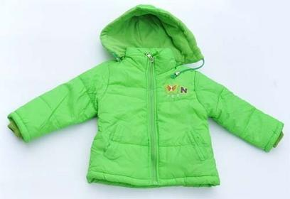 kurtka na zimę + odpinany kaptur zielona 92cm 13z
