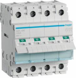 Hager Modułowy rozłącznik izolacyjny 4P 100A 400V SBN490