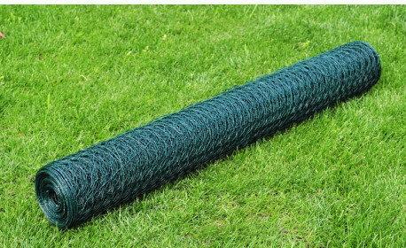 Siatka ogrodzeniowa z tworzywa PCV 50cm x 25m 1,1 mm