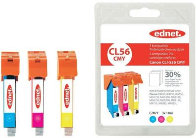 Canon Tusz do drukarek Atramentowych zestaw zamiennik ednet CL56CMY zamiennik CL