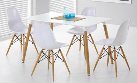 Halmar Zestaw Socrates stół + 4 krzesła K153