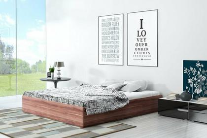 Łóżko z płyty Ikar Materace Dla Ciebie 120x200