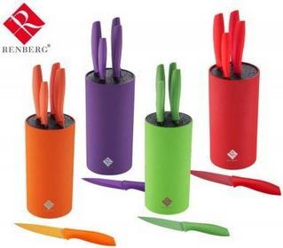 Zestaw noży STALOWO-ceramiczneCH RENBERG FLASH 6 ELE. [RB-2591]