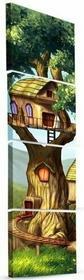 DobryObraz Cztery kwadraty - Domek na drzewie 0125 - obraz na płótnie