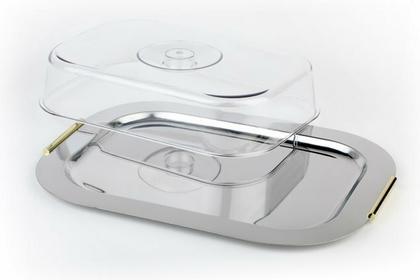 Taca do serwowania z uchwytami i pokrywą 440x310 mm, prostokątna | APS, Finesse