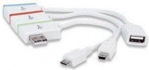 Manhattan Hub+iLynk USB wielozadaniowy, Adapter Micro & Mini USB 161657