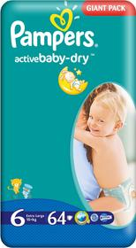 Pampers Active Baby Dry 6 Extra Large 64 szt.