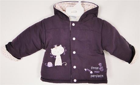 kurtka na zime dla dziewczynki fiolet Princess
